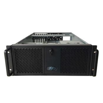 TGC Rack Mountable Server Chassis 4U 550mm Depth, 3x Ext 5.25' Bays, 4x Int 3.5' Bays, 7x Full Height PCIE Slots, ATX PSU/MB