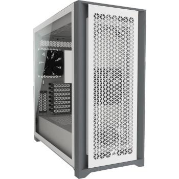 CORSAIR 5000D AIRFLOW E-ATX, ATX, USB Type-C, 1x 120mm Front & Rear, Radiator 360mm. 7x PCI, 4x 2.5' SSD, 2x 3.5' HDD. VGA 420mm. WhiteTower Case