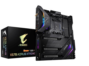 GIGABYTE X570 AORUS XTREME WIFI Ryzen AM4 E-ATX Motherboard 4xDDR4 5xPCIe 4.0 2xM.2 RAID 10GbE+1GbE LAN BT CROSSFIRE SLI RGB 2xUSB-C 7xUSB3.2