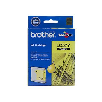 Brother LC-57Y Yellow Ink FAX-2480C, DCP-130C/330C/540CN/350C, MFC-240C/440CN/3360C/5460CN/5860CN/665CW/465CN/685CW/885CW- up to 400 pages