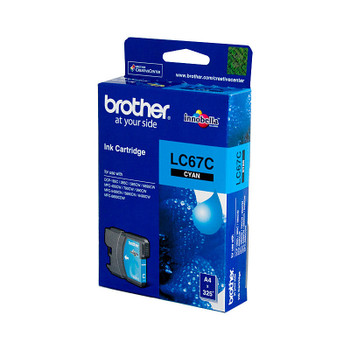 Brother LC-67C Cyan Ink Cartridge - to suit DCP-385C/395CN/585CW/6690CW/J715W, MFC-490CW/5490CN/5890CN/6490CW/6890CDW/790CW/795CW/990CW- up to 325 pages