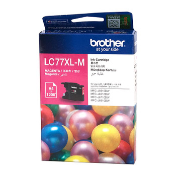 Brother LC-77XLM Magenta Super High Yield Ink Cartridge - MFC-J6510DW/J6710DW/J6910DW/J5910DW - up to 1200 pages