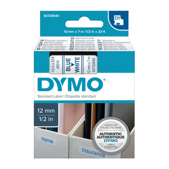 DYMO Blue on White 12mmx7m Tape