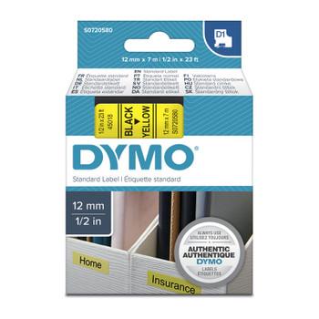 DYMO Black on Yellow 12mmx7m Tape