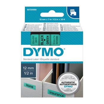 DYMO Black on Grn 12mmx7m Tape