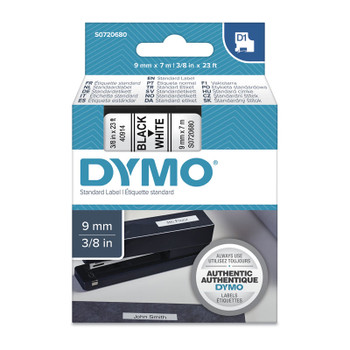 DYMO Black on White 9mm x7m Tape