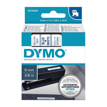 DYMO Blue on White 9mm x7m Tape