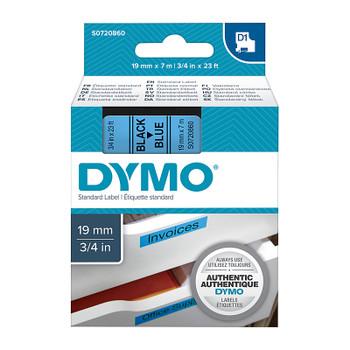 DYMO Black on Blue 19mmx7m Tape