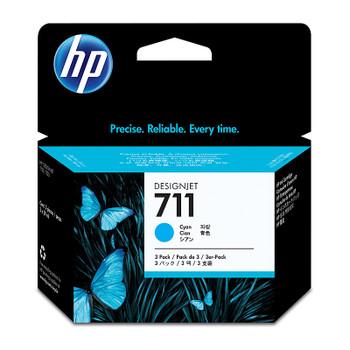 HP #711 29ml Cyan 3 Pk CZ134A