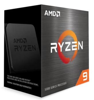 AMD Ryzen 9 5900X Zen 3 CPU 12C/24T TDP 105W Boost Up to 4.8GHz Base 3.7GHz Total Cache 70MB No Cooler (AMDCPU) (RYZEN5000)(AMDBOX)