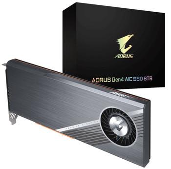 GIGABYTE AORUS RAID AIC NVMe PCIe x4 Gen4 SSD 8TB - 15000/15000 MB/s 430K/440K IOPS 3600TBW 2GB Cache Toshiba BiCS4 3D TLC 1.77 Mil MTBF 5yrs Wty