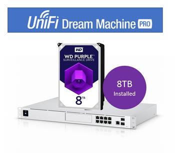 UBIQUITI UniFi Dream Machine Pro Enterprise Security Gateway & Network Appliance – Includes WD 8Tb HDD Pre-Installed