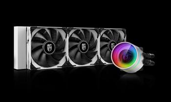 DEEPCOOL Castle 360EX White CPU Liquid Cooler Intel LGA20XX/1151/1150/1155/1200/1366 AMD TRX4 TR4 AM4 AM3+ AM3 AM2+ AM2 FM2+ FM2 FM1