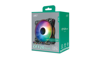 DEEPCOOL CF 120 PLUS 3 in 1 Customisable Addressable RGB LED Lighting 3 PACK