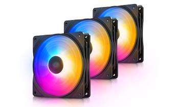 DEEPCOOL RF120 FS (3 in 1) LED Fan 120mm Preset Purple/Blue/Orange LED Combination