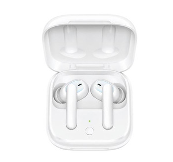 OPPO Enco W51 True Wireless Earphones White - Hybrid Active Noise Cancellation, Qi Wireless Charging Support, IP54 Dust and Water Resistance