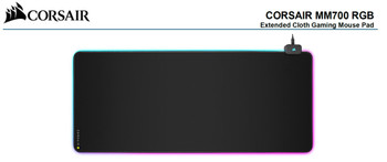CORSAIR MM700 RGB POLARIS - Dynamic Three Zone RGB and low friction micro-texture surfacet for Ultimate Gaming Setup.930mm x 400mm x 4mm Mousemat