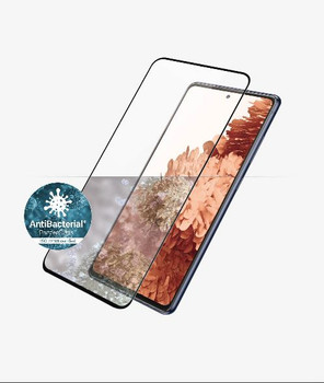PANZER GLASS Screen Protector - Case Friendly - For Samsung Galaxy S21+ - Full Frame Coverage, Rounded Edges, Crystal Clear, Anti Bacterial