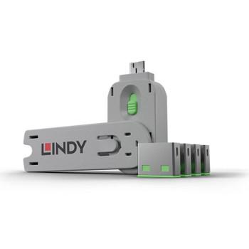 LINDY USBA Port Block/Key x4 G