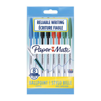 PAPER MATE 045 1.0mm BP Pen Asst Pk8