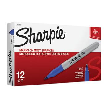 SHARPIE FP PermMarker Blu Bx12
