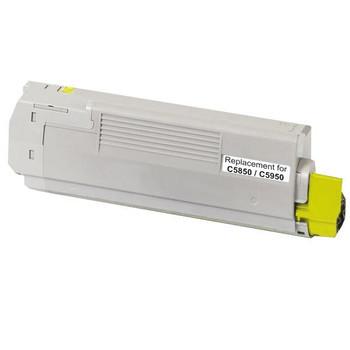 OKI 43865725 C5850 C5950 MC560 Yellow Premium Generic Toner