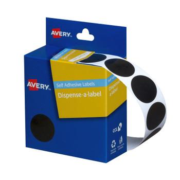 AVERY Disp Black 24mm Roll500