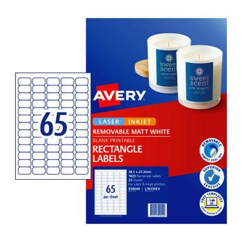 AVERY LIP Label L7651REV 65Up Pk25 (D-AV959049)