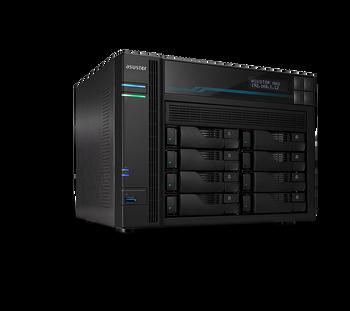 ASUSTOR AS6508T 8 Bay Lockerstor 8 NAS Intel Atom C3538 Quad Core 2.1GHz 8GB DDR4 2x2.5GbE 2x10GbE 2xM.2PCIE 2xUSB3.2Gen1 WoW Snapshot Virtualization