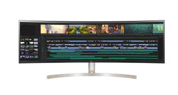 LG 49' UltraWide 32:9 Dual QHD IPS 5ms Curved Monitor (5120 x 1440) HDMI/USB-C,VESA 100 x100