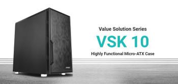 ANTEC VSK10 mATX with True 550w 80+ 85% Efficiency PSU, 2x USB 3.0 Thermally Advanced Builder's Case. 1x 120mm Fan. Two Years Warranty