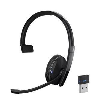 SENNHEISER | Sennheiser Adapt 230 on-ear, single-sided Bluetooth © headset with USB dongle, UC optimised and Microsoft Teams certified, Noise-canceling mic