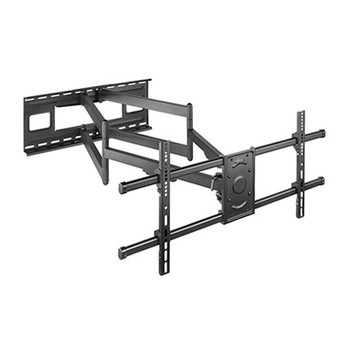 BRATECK Extra Long Arm Full-Motion TV Wall Mount For Most 43'-90' Flat Panel TVs Up to 80kg VSEA 200x200/300x200/300x300/400x200/400x300/MAX 800x400
