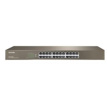 TENDA TEG1024G 24-port Gigabit Ethernet Unmananged Switch, 19' 10/100/1000 Mbps Auto-Negotiation RJ45 Ports, Rackmountable, Surge Protection, Fanless