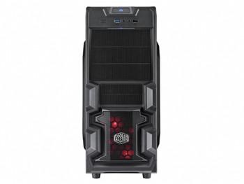 COOLERMASTER K380. ATX Case, NP 1x USB3.0+USB2.0,1x Red LED Fan