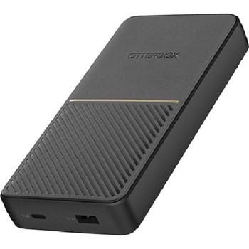 OTTERBOX 20K mAh Power Bank USB-A & C 18W Twilight - Black - Sleek, quality finish fits into the tightest pockets