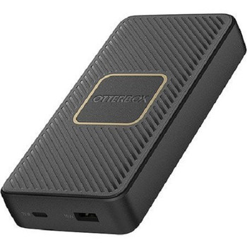 OTTERBOX 15K mAh Power Bank + Wireless Charger - USB-A & C PD 18W +10W Twilight - Black - Supports wireless charging through 10W Qi Wireless output