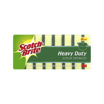 SCOTCHBRITE Scrub Sponge H/Duty Pk8