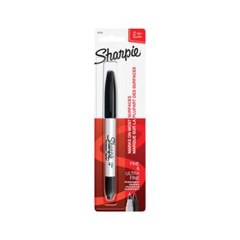 SHARPIE Marker TwinTip Blk Bx6