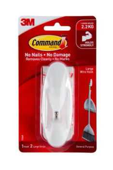 COMMAND Hook 17069 Lg Wire pk4