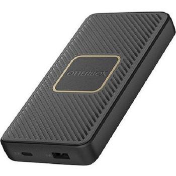 OTTERBOX Fast Charge Qi Wireless Power Bank 10,000 mAh - Black