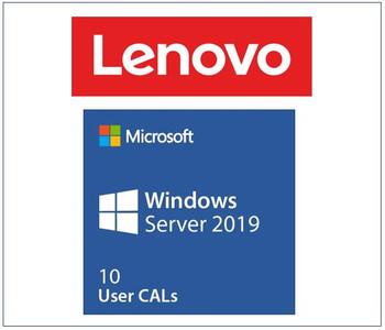 LENOVO Microsoft Windows Server 2019 Client Access License (10 User) ST50 / ST250 / SR250 / ST550 / SR530 / SR550 / SR650 / SR630