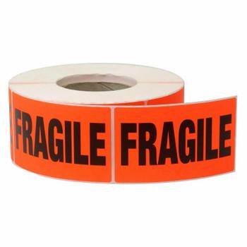 AVERY Lbl Fragile Orng Pk1000