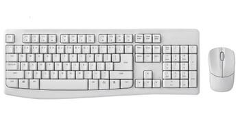 RAPOO X1800Pro Wireless Mouse & Keyboard Combo - 2.4G, 10M Range, Optical, Long Battery, Spill-Resistant Design,1000 DPI, Nano Receiver, Entry (White)
