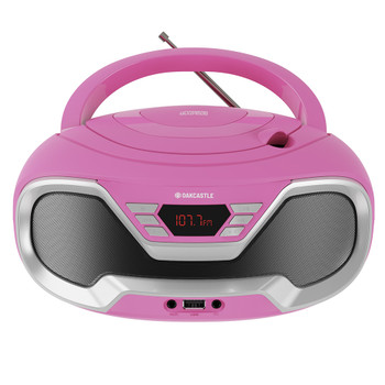 MAJORITY Oakcastle CD200 Portable Bluetooth CD Player-Pink
