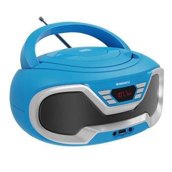 MAJORITY Oakcastle CD200 Portable Bluetooth CD Player-Blue