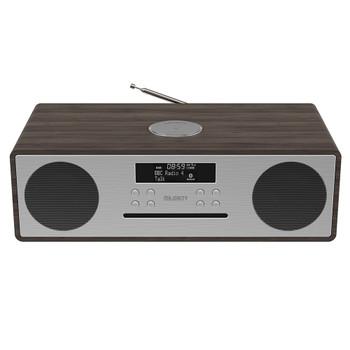 MAJORITY Majority Oakington Bluetooth, DAB Radio & CD Player-Walnut
