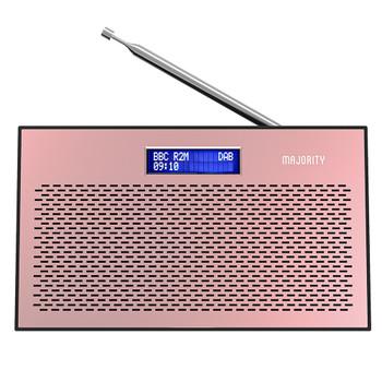 MAJORITY Majority Histon Compact DAB/DAB+ & FM Radio-Rose