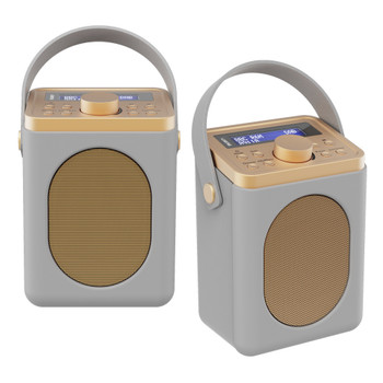 MAJORITY Majority Little Shelford DAB/DAB+ Radio with Bluetooth-Grey-2PK
