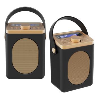 MAJORITY Majority Little Shelford DAB/DAB+ Radio with Bluetooth-Black-2PK